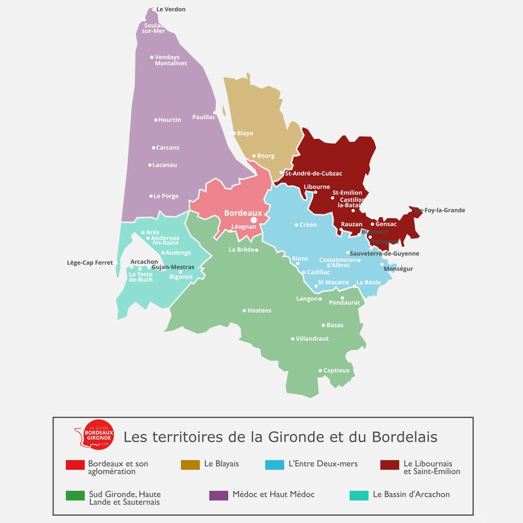 Carte du Libournais et de St Emilion en Gironde