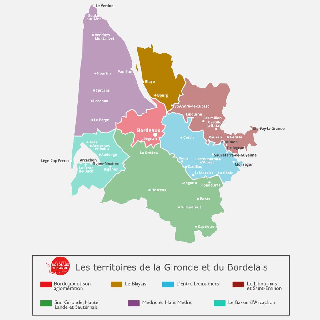 Carte du Blayais en Gironde